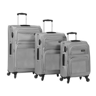 Mia Toro ITALY Cortina 3-piece Expandable Spinner Upright Luggage Set