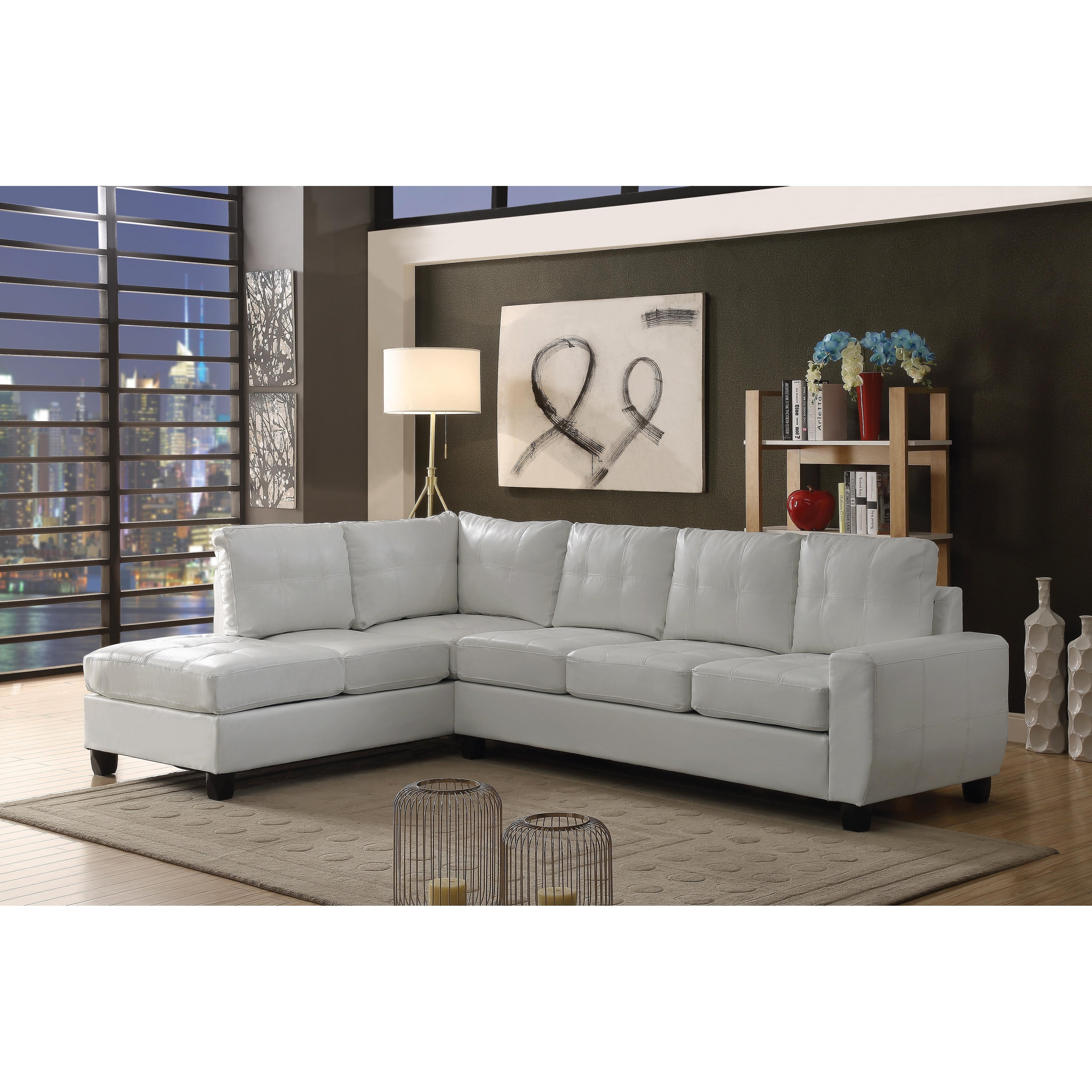Lyke Home Henry Contemporary Bonded Leather Sectional (Ch..  sc 1 st  Nextag & Contemporary leather recliner sofa design | Sofas | Compare Prices ... islam-shia.org