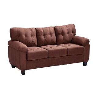 LYKE Home Jacob Contemporary Suede Sofa