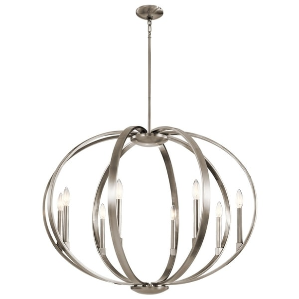Kichler Lighting Elata Collection 8-light Classic Pewter Chandelier/Pendant - classic pewter