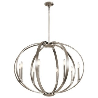 Kichler Lighting Elata Collection 8-light Classic Pewter Chandelier/Pendant