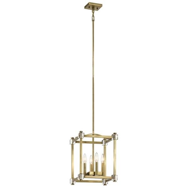 Kichler Lighting Cayden Collection 4-light Natural Brass Foyer Pendant