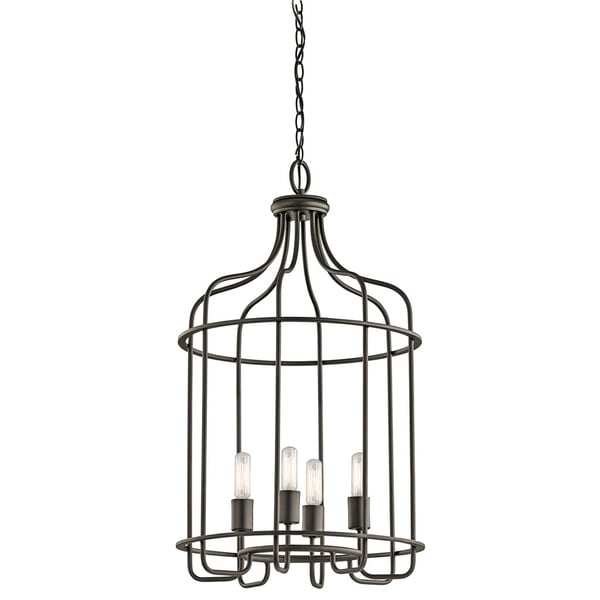 Kichler Lighting Tinley Collection 4-light Olde Bronze Foyer Pendant