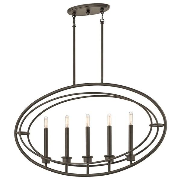 Kichler Lighting Imogen Collection 5-light Olde Bronze Linear Chandelier