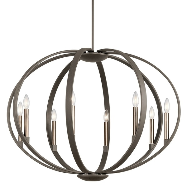 Kichler Lighting Elata Collection 8-light Olde Bronze Chandelier/Pendant