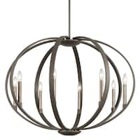 Kichler Lighting Elata Collection 8-light Olde Bronze Chandelier/Pendant