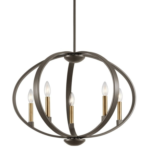 Kichler Lighting Elata Collection 5-light Olde Bronze Chandelier/Pendant