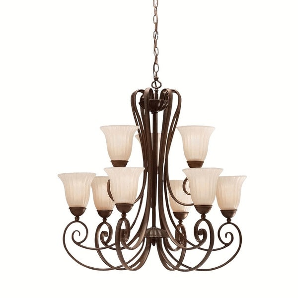 Kichler Lighting Willowmore Collection 9-light Tannery Bronze Chandelier - tannery bronze