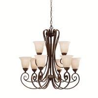 Kichler Lighting Willowmore Collection 9-light Tannery Bronze Chandelier