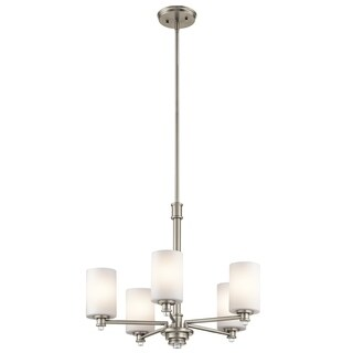 Clay Alder Home 5-light Brushed Nickel Chandelier - Thumbnail 0