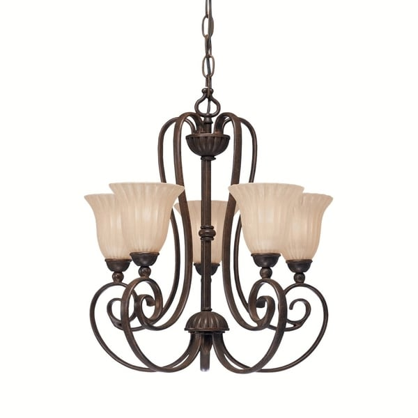Kichler Lighting Willowmore Collection 5-light Tannery Bronze Mini Chandelier