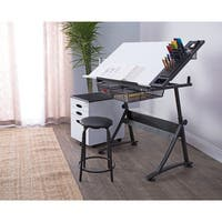 "Studio Designs Fusion Craft Center Drafting Table with 24"" Tray"