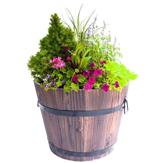 Large Wooden Barrel Planters: Buy Planters & Plant Stands Online At Overstock