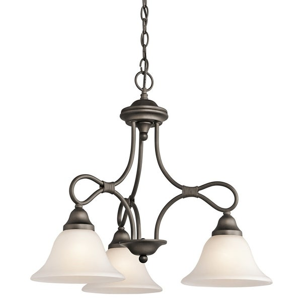 Kichler Lighting Stafford Collection 3-light Olde Bronze Chandelier