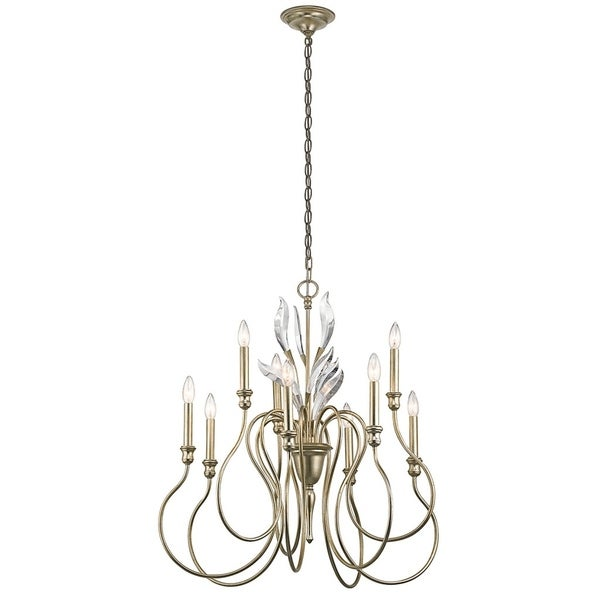 Kichler Lighting Grace Collection 9-light Sterling Gold Chandelier