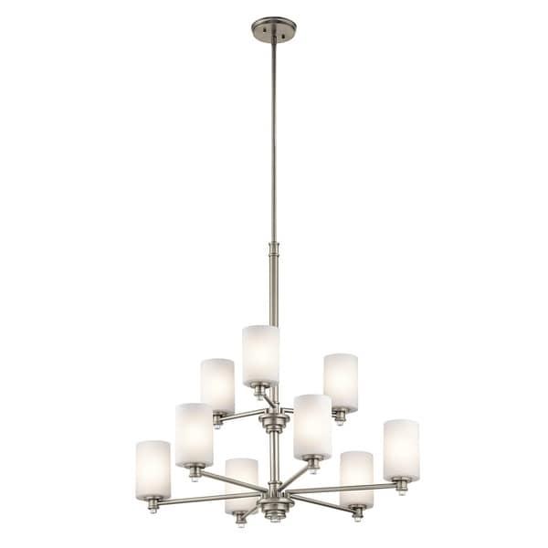 Clay Alder Home 9-light Brushed Nickel LED Chandelier