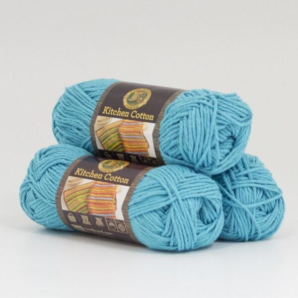 Lion Brand Yarn Kitchen Cotton Tropic Breeze 831 148 3 Pack Clic