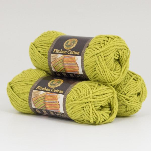 Lion Brand Yarn Kitchen Cotton Kiwi 831 170 3 Pack Clic