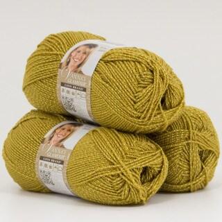 Lion Brand Yarn Vanna's Glamour Gold 861-171 3 Pack Fashion Yarn