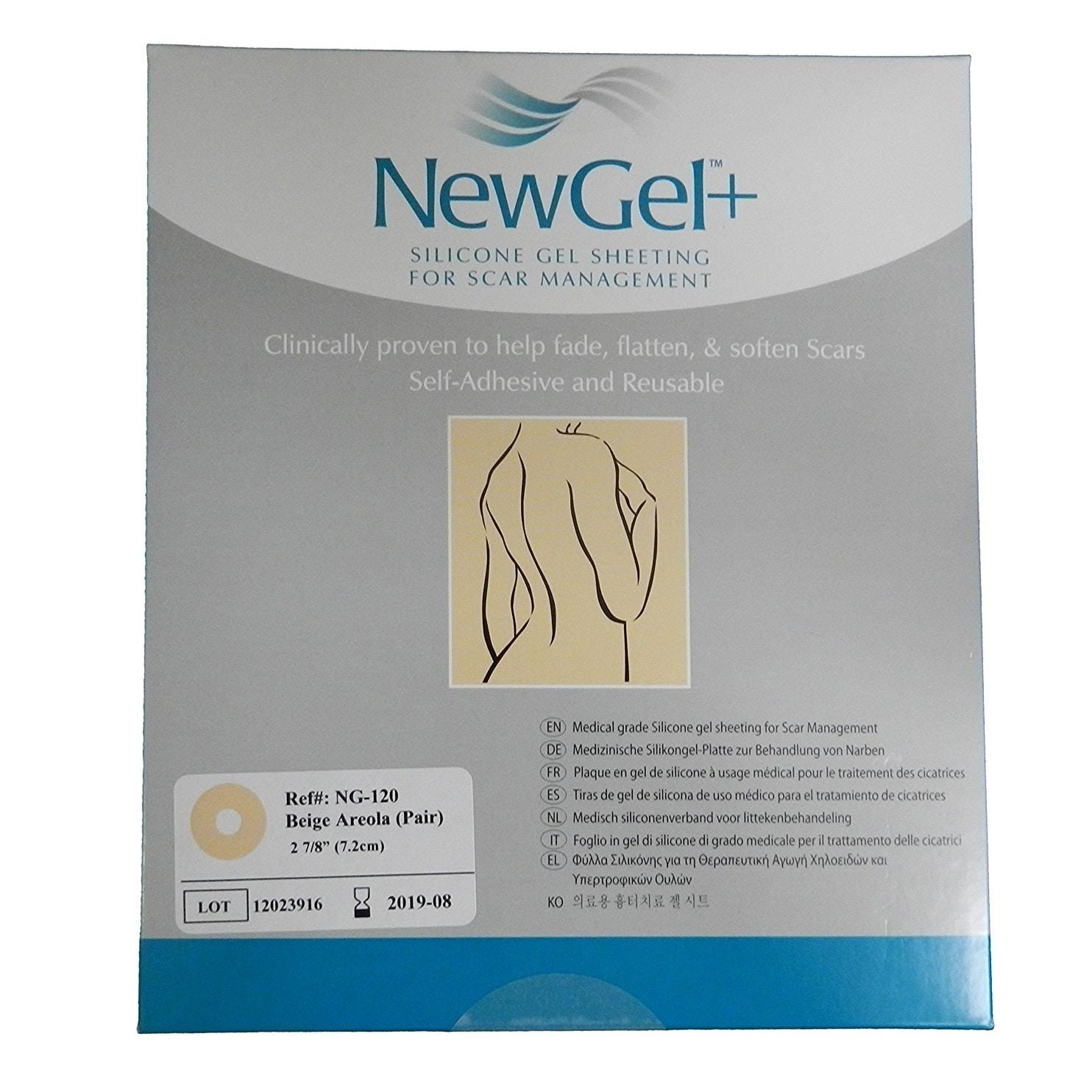 NewGel+ Silicone Gel Areola Beige Sheeting for Scar Manag...