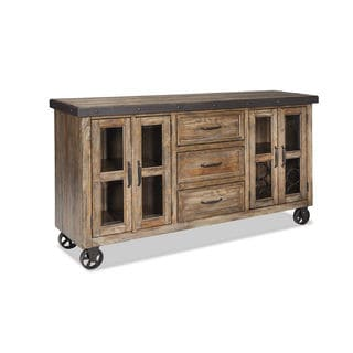 Intercon Taos Canyon Brown and Metal Sideboard