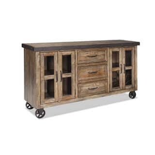 Taos Canyon Brown And Metal Sideboard