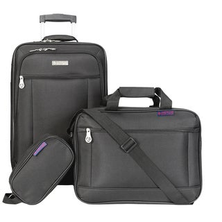 American Explorer Clark 3-piece Carry On Rolling Luggage Set