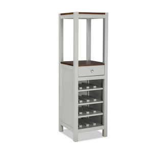 Intercon Small Spaces Cherry and Gray Vertical Wine Cabinet