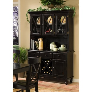 Intercon Roanoke Hand Rubbed Black Buffet and Hutch