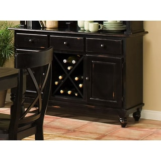 Intercon Roanoke Hand Rubbed Black Buffet