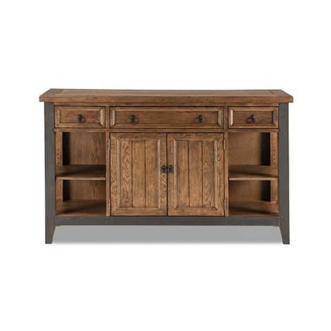 Carbon Loft Jannat Weathered Saddle and Metal Sideboard