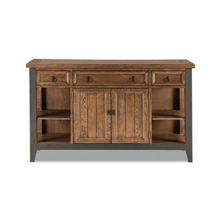 Intercon River Weathered Saddle and Metal Sideboard