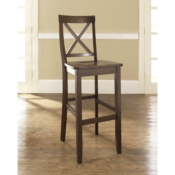 Shop X Back Bar Stool In Classic Cherry Finish With 30