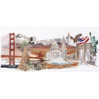 "America On Aida Counted Cross Stitch Kit-29""X13.5"" 18 Count"