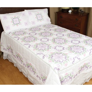 Stamped White Quilt Top -XX Colonial