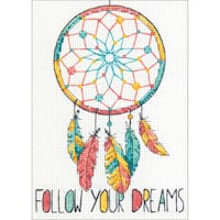 "Dreamcatcher Mini Counted Cross Stitch Kit-5""X7"" 14 Count"