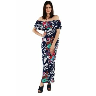24/7 Comfort Apparel Tropez Maxi Dress