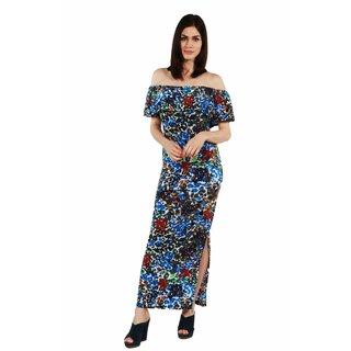 24/7 Comfort Apparel Blue Sunshine Dress