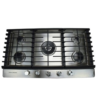 30 in. Gas Cooktop in Stainless Steel with 5 Burners Including a Tri-Ring Power Burner|https://ak1.ostkcdn.com/images/products/16048705/P22437274.jpg?_ostk_perf_=percv&impolicy=medium