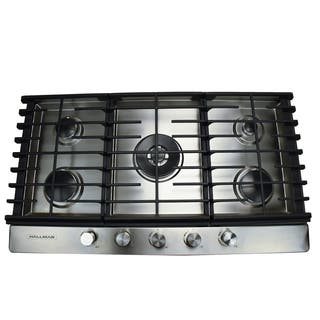 30 in. Gas Cooktop in Stainless Steel with 5 Burners Including a Tri-Ring Power Burner|https://ak1.ostkcdn.com/images/products/16048705/P22437274.jpg?impolicy=medium