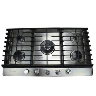 36 in. Gas Cooktop in Stainless Steel with 5 Burners Including a Tri-Ring Power Burner|https://ak1.ostkcdn.com/images/products/16048707/P22437275.jpg?impolicy=medium