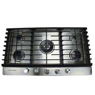 Gas Cooktop In Stainless Steel With 5 Burners Including A Tri Ring
