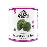 Augason Farms Freeze Dried Broccoli Florets & Stems 7 oz #10 Can