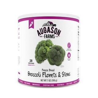 Augason Farms Freeze Dried Broccoli Florets & Stems 7 oz #10 Can