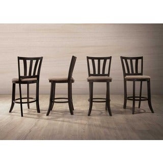 Slatted Back Cappuccino Wood Counter-height Dining Chairs