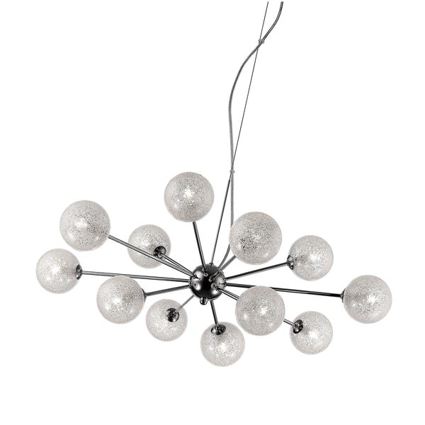 Access Lighting Opulence 12-light Halogen Chrome Glitter Glass Chandelier with Clear Glass Shade