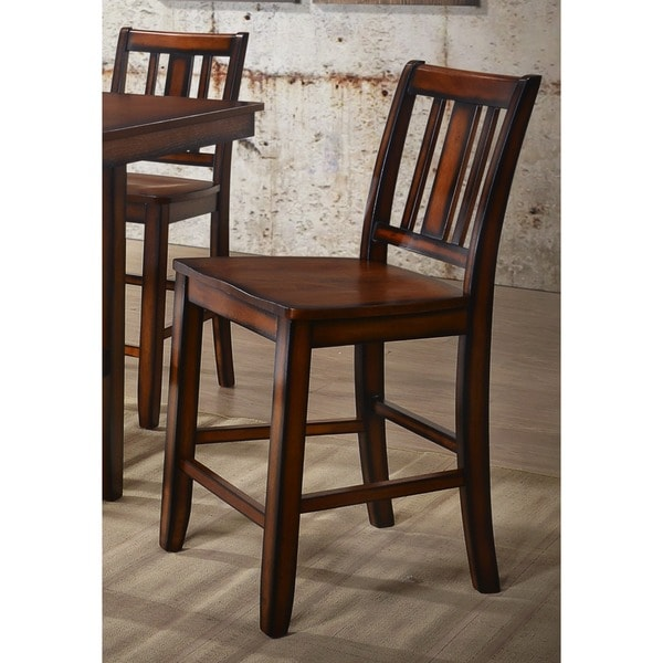 Shop Solid Wood Counter Height Dining Chairs (Set Of 2