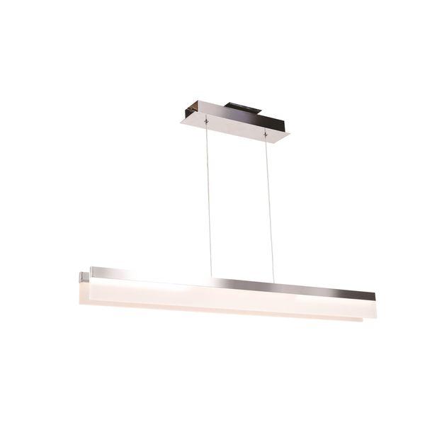 Access Lighting Linear LED Chrome Double Bar Pendant with Acrylic Lens Diffuser
