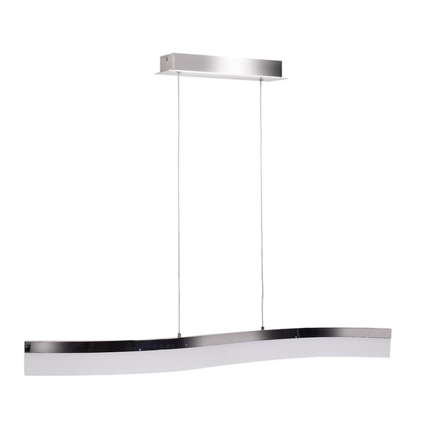 Access Lighting Linear LED Chrome Wavy Pendant with Acrylic Lens Diffuser