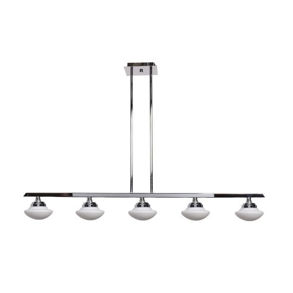 Access Lighting Atomiser 5-light LED Chrome Pendant with Opal Glass Shade